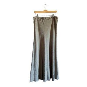 CP Shades Linen Blend Bias Cut Maxi Skirt